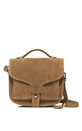 Medium opening ceremony khaki oc ace bag in khaki suede