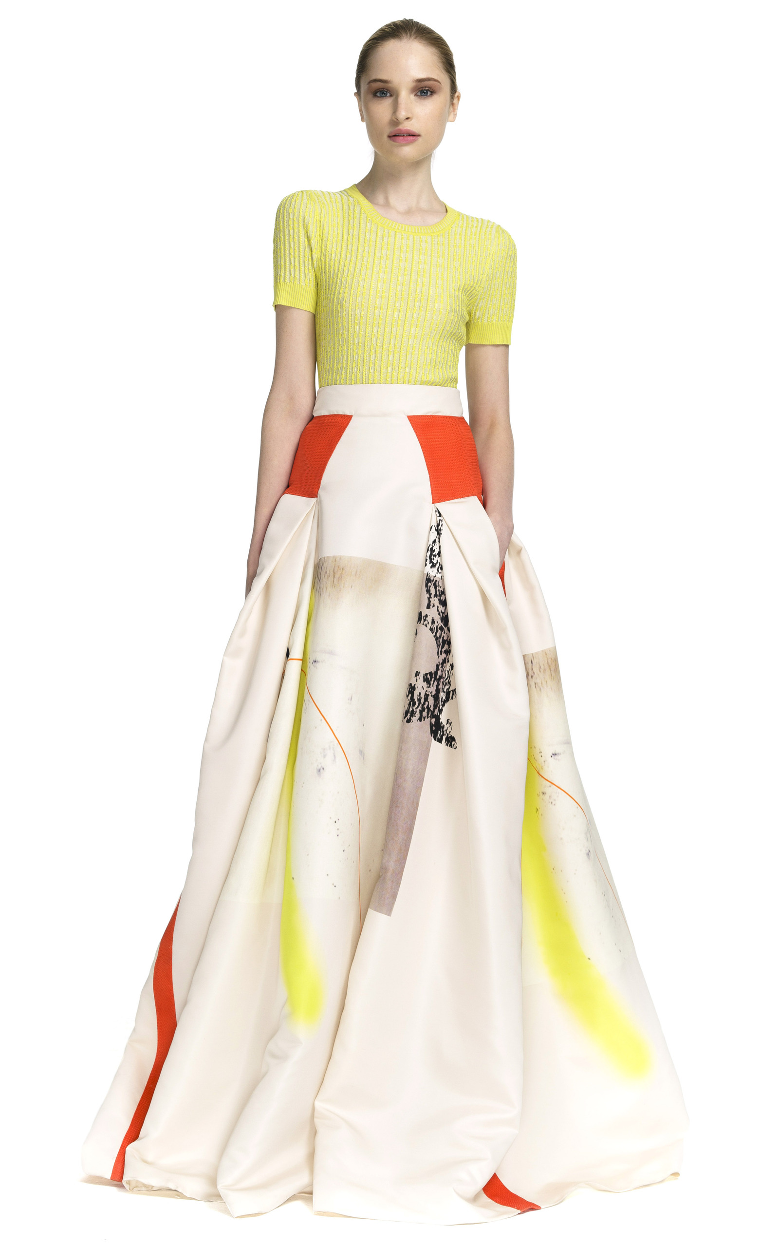 white in lilac flocked women floor cotton tulle skirt floors length skirts united burberry