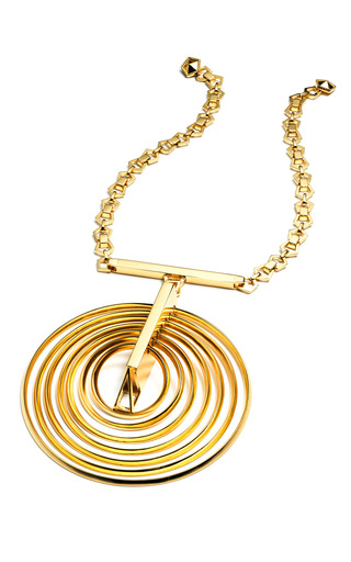 Medium eddie borgo gold orbit pendant necklace