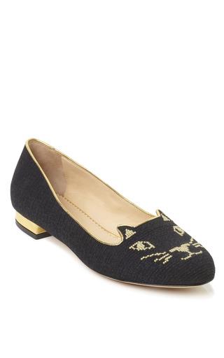 Medium charlotte olympia black black kitty flat