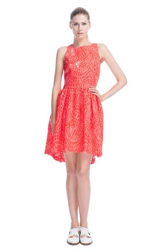 Medium msgm red paisley fil coupe dress
