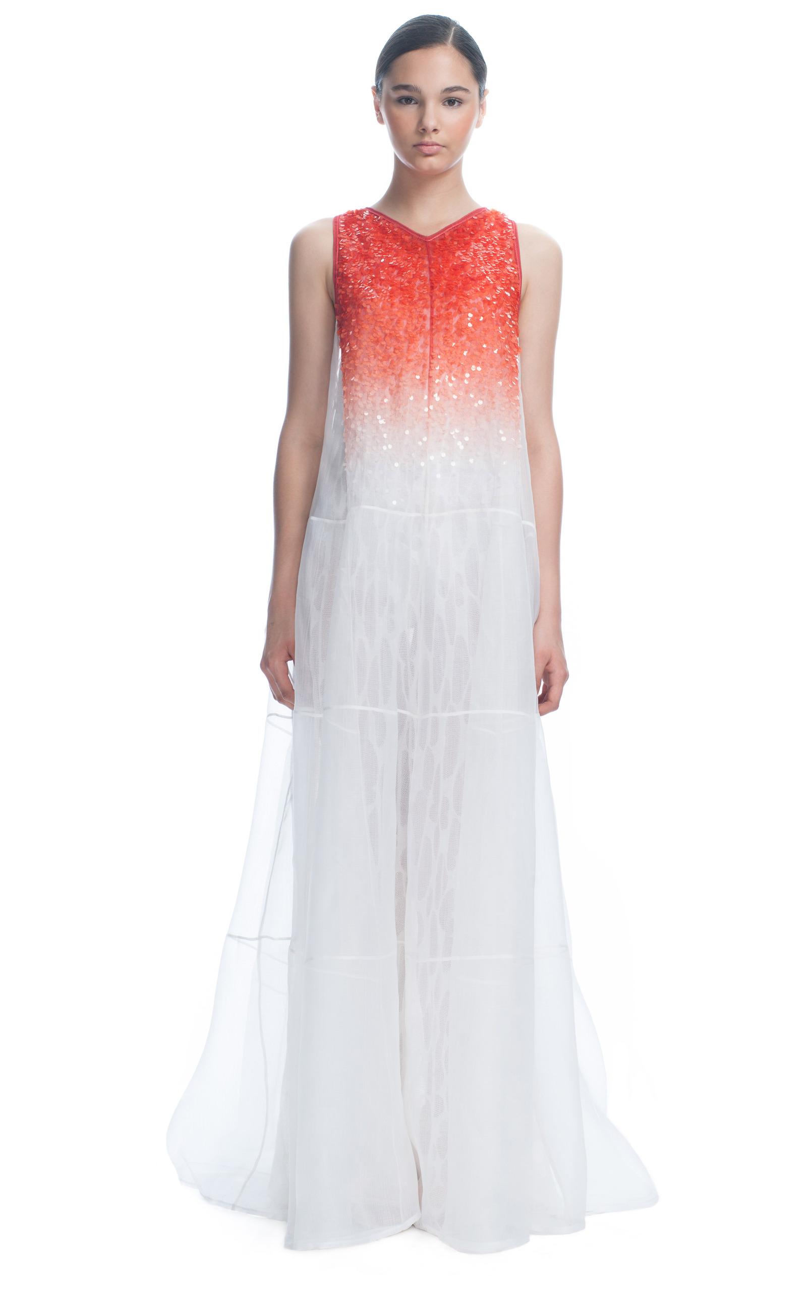 Organza Evening Dress With Ombré Sequins by Missoni | Moda Operandi