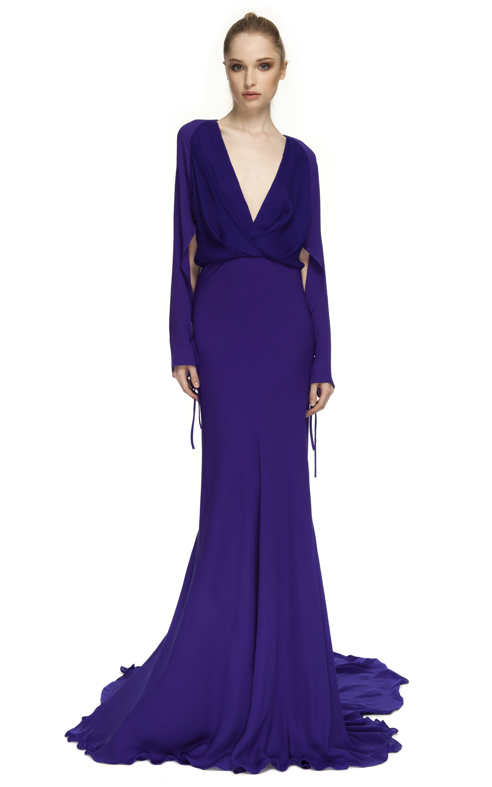 Royal Purple Royal Purple Bias Gown by Juan Carlos Obando | Moda ...