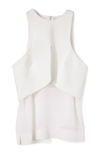 Medium dion lee white white purity tank