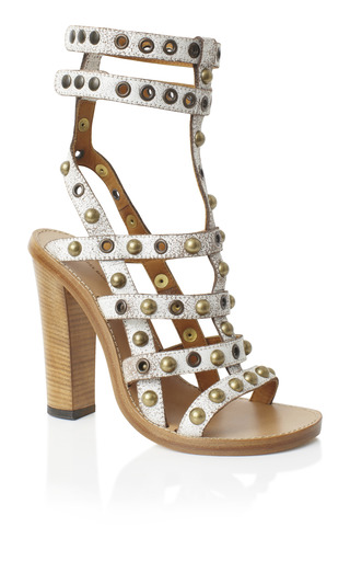 Chalk Lucie Studded Sandal by Isabel Marant