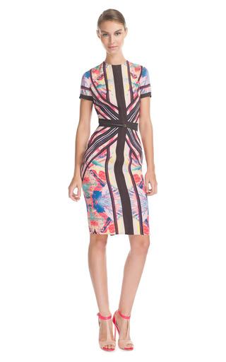 Medium elie saab print print stretch cady pencil dress