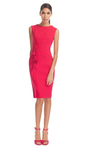Medium elie saab red berry stretch crepe dress