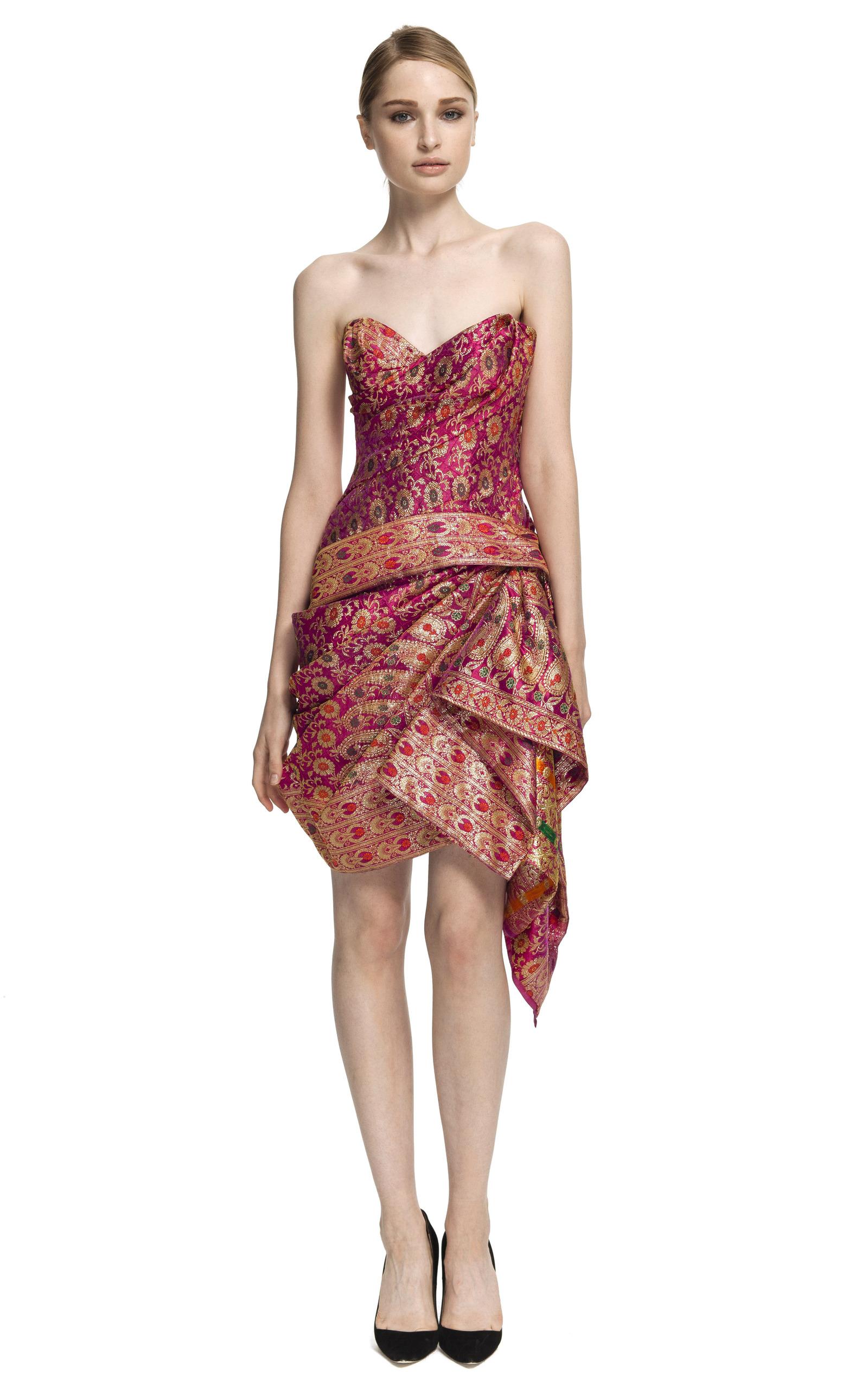 4b51f7df92e Strapless Sari Cocktail Dress by Marchesa | Moda Operandi