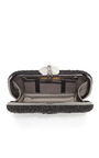 Lily Embroidered Clutch In Black by MARCHESA for Preorder on Moda Operandi