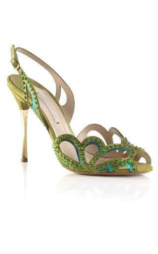 Medium nicholas kirkwood gold fluro green studded sandal