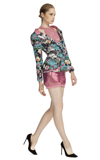 e3ba9bc6006c Printed Off-The-Shoulder Blazer by Brood