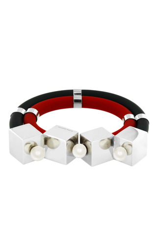 Medium delfina delettrez red three x three bracelet