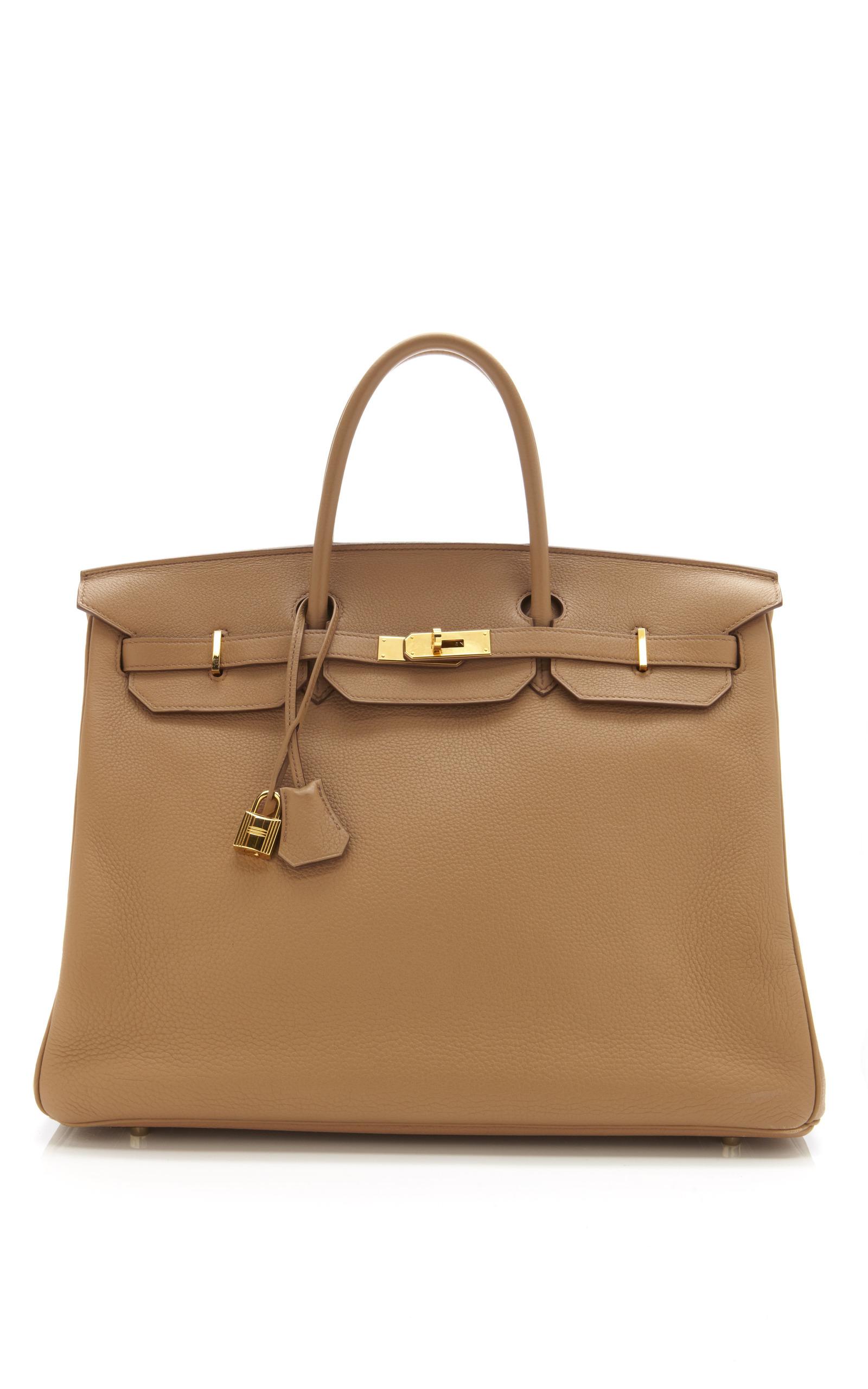 4f2bae5dce Hermes Vintage40cm Tabac Camel Clemence Leather Birkin. CLOSE. Loading