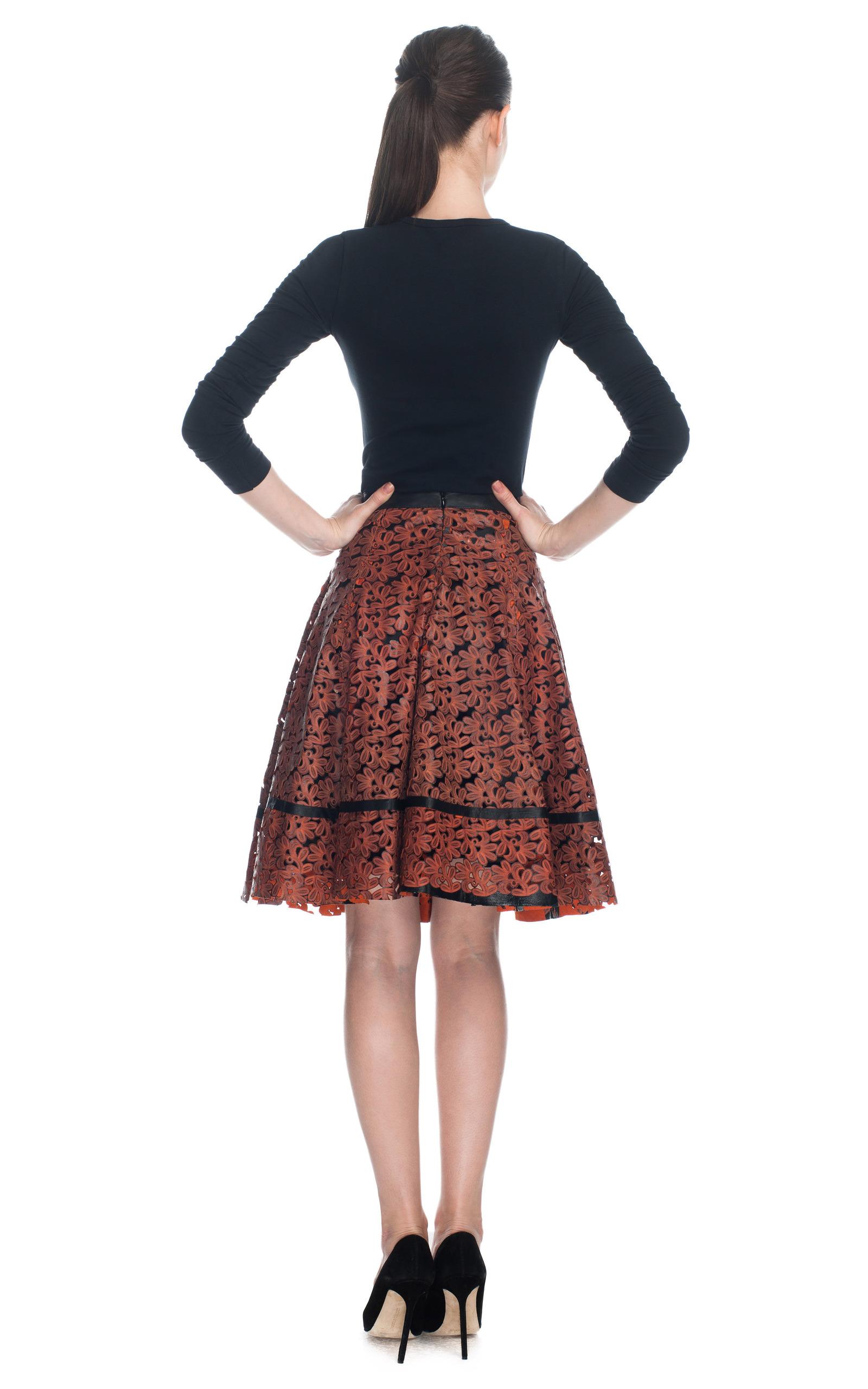 laser cut rechilieu work a line skirt by patr 237 cia moda