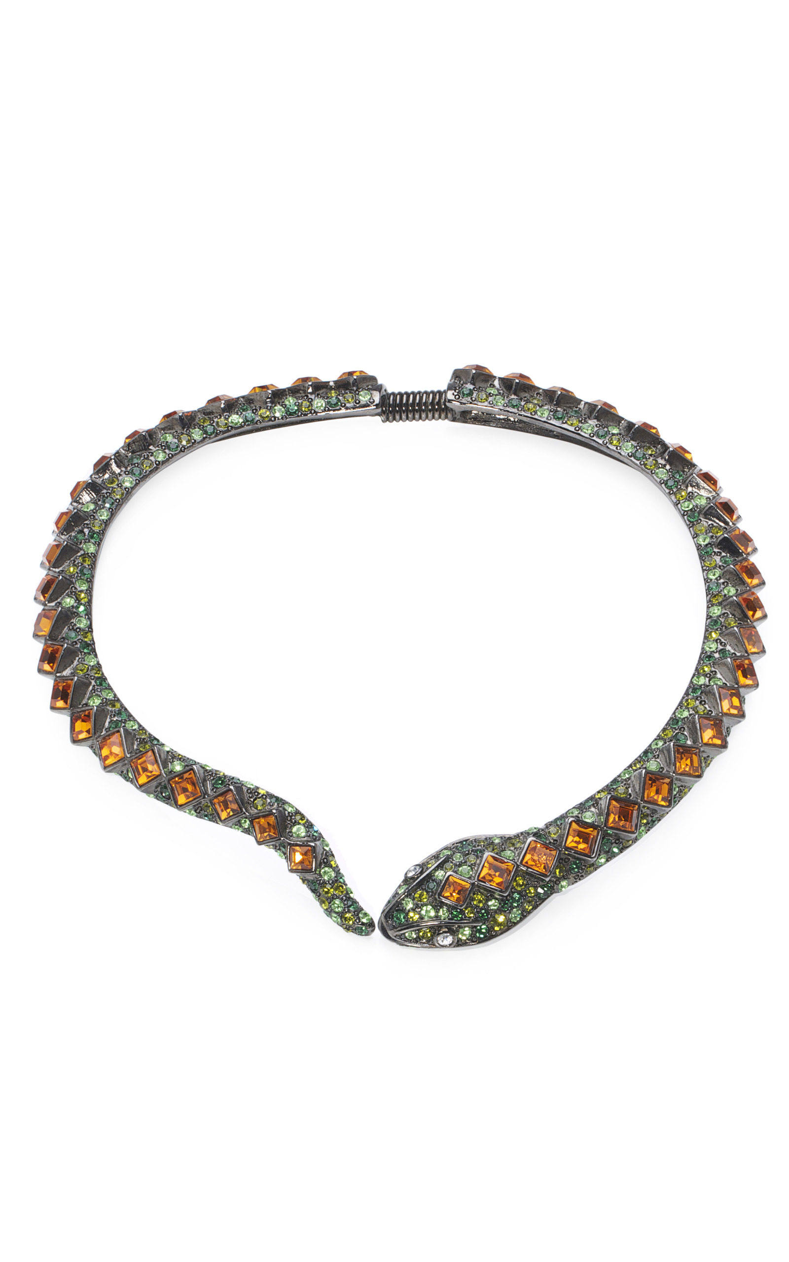 snake embellished collar necklace by kenneth
