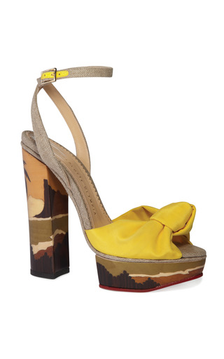 Medium charlotte olympia yellow bahia sandal