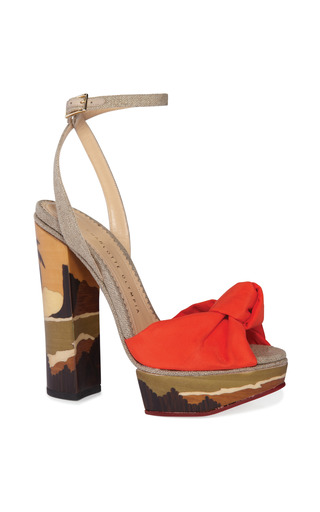 Medium charlotte olympia orange bahia sandal 2
