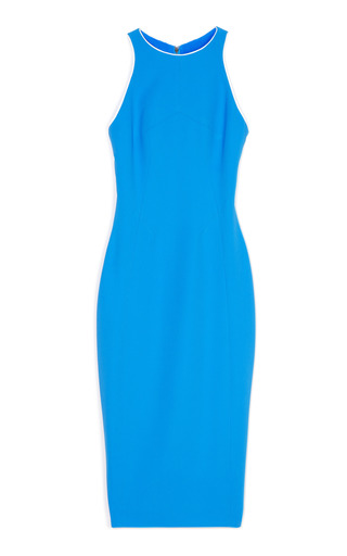 Medium antonio berardi multi blue seamed shift dress with white trim