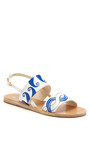 Calypso Double Strap Leather Sandals by ANCIENT GREEK SANDALS Now Available on Moda Operandi