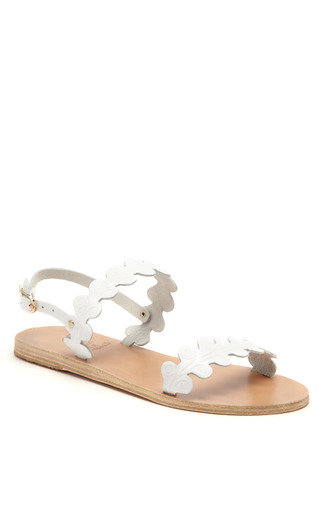 Medium ancient greek sandals white chloe leather sandals