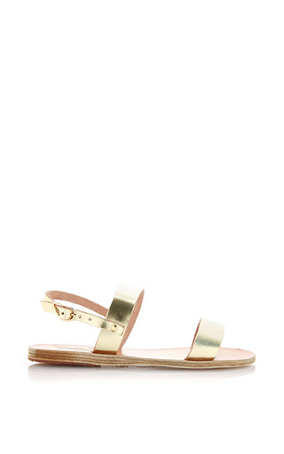 Clio Metallic Leather Sandals by ANCIENT GREEK SANDALS Now Available on Moda Operandi