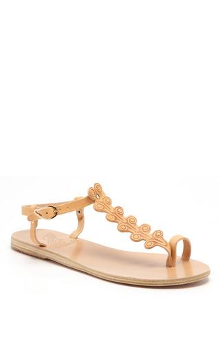 Medium ancient greek sandals nude erofylli leather t strap sandals