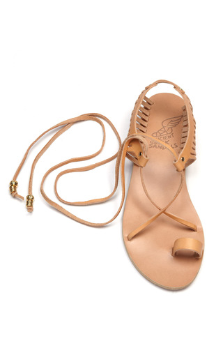 Ino Caged Leather Sandals by ANCIENT GREEK SANDALS Now Available on Moda Operandi
