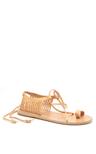 Medium ancient greek sandals nude ino caged leather sandals