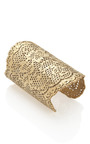 18 Karat Gold Dipped Vintage Lace Cuff by AURéLIE BIDERMANN Now Available on Moda Operandi