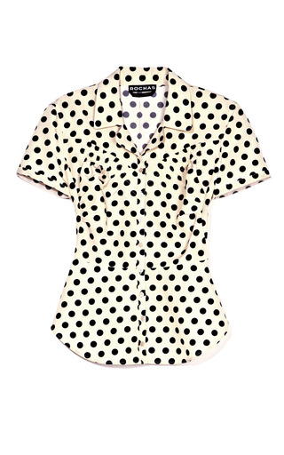 Medium rochas multi polka dot blouse