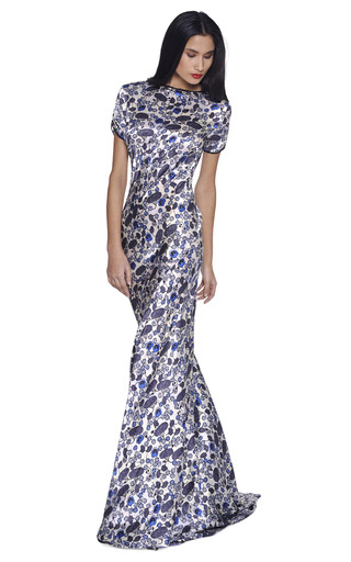 Short Sleeve Backless Gown by ROCHAS Now Available on Moda Operandi
