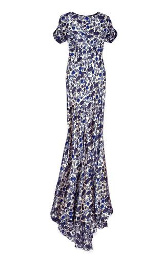 Medium rochas multi short sleeve backless gown