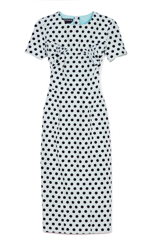 Medium rochas multi polka dot sheath dress