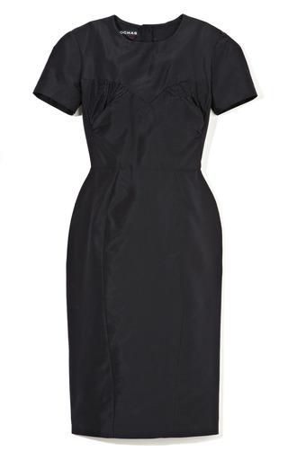Medium rochas blue silk faille sheath dress
