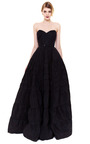 Tiered Silk Faille Strapless Gown by ROCHAS Now Available on Moda Operandi