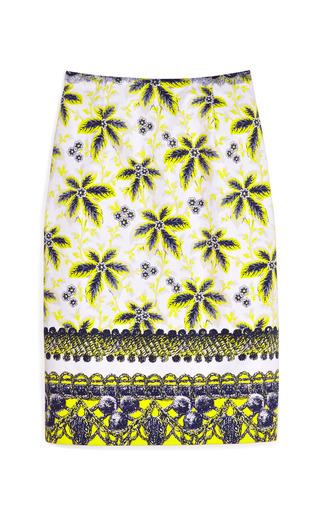 Medium prabal gurung print acid yellow flower damiana skirt 2