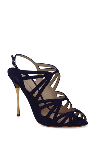 Gilded Stiletto Sandal by NICHOLAS KIRKWOOD Now Available on Moda Operandi