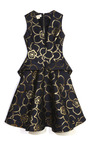 Gold Flower Jacquard Flap Pocket Dress by MARNI Now Available on Moda Operandi
