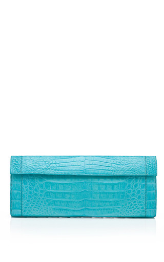 Medium nancy gonzalez blue foldover clutch 2