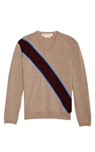 Medium marni multi marble asymmetrical stripe sweater