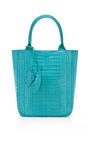 Crocodile Leaf Tote by NANCY GONZALEZ Now Available on Moda Operandi