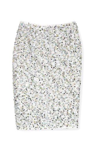 Medium nina ricci multi tweed sparkle pencil skirt
