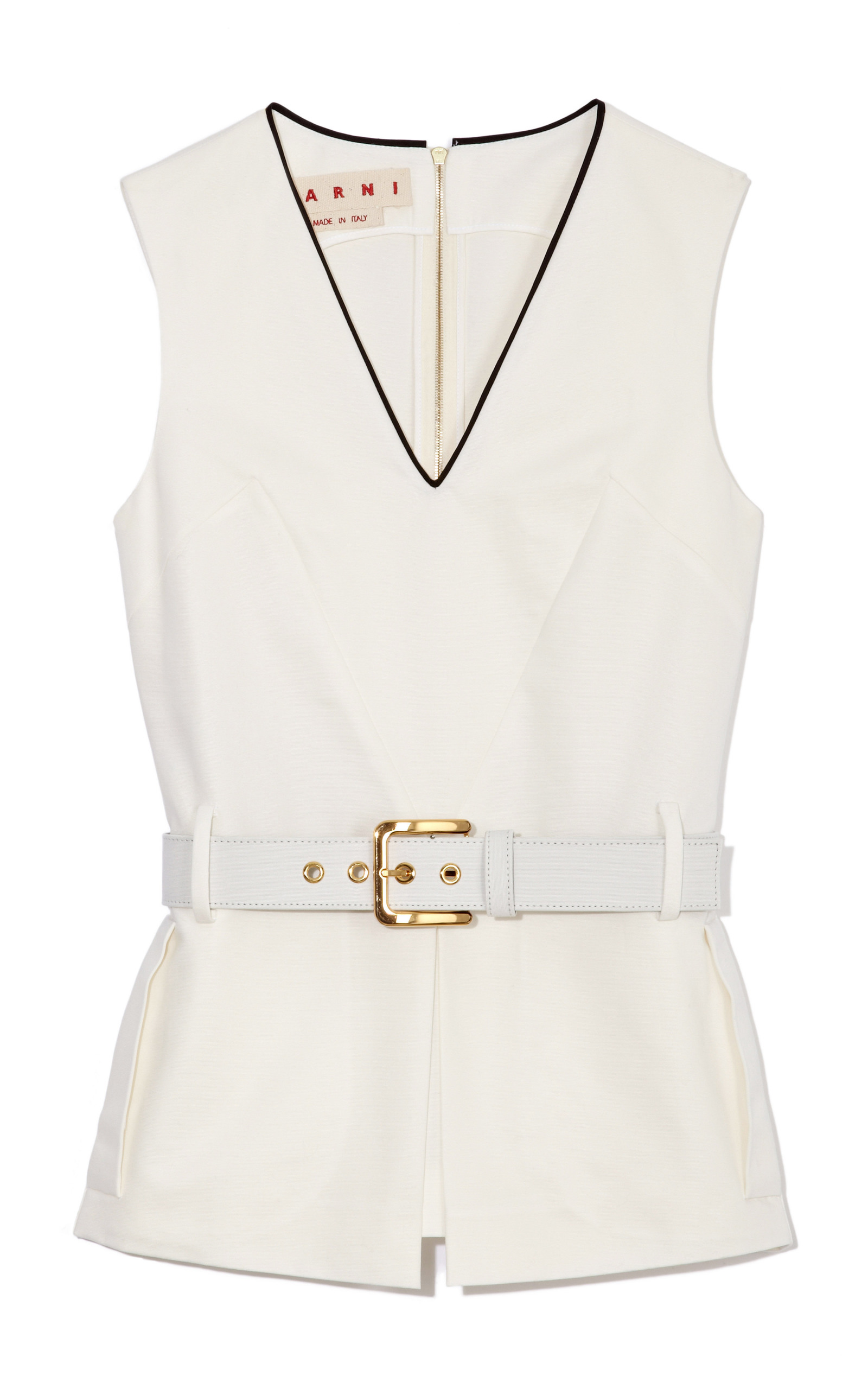 Affordable Cheap Price Marni Sleeveless V-Neckline Top Free Shipping Lowest Price 1fJ15jRUw