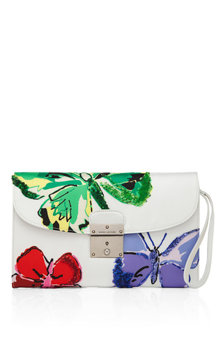 Medium marc jacobs white the isobel clutch in white mo exclusive