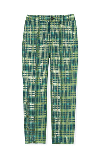 Medium marc jacobs multi lurex plaid jacquard ankle pants