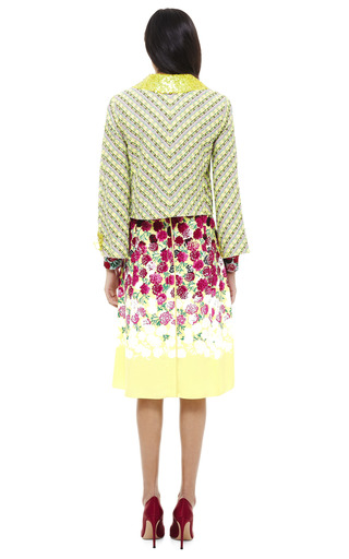 Yellow Floral Pattern Skirt by MARC JACOBS Now Available on Moda Operandi