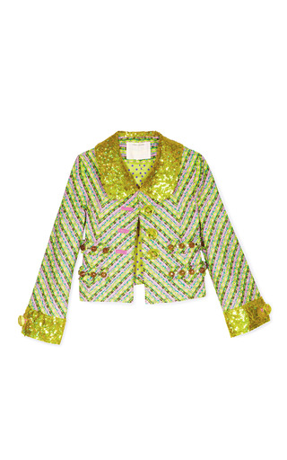 Medium marc jacobs multi yellow tweed jacket