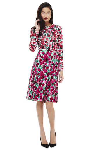 Degrade Floral Satin Back Crepe Skirt by MARC JACOBS Now Available on Moda Operandi