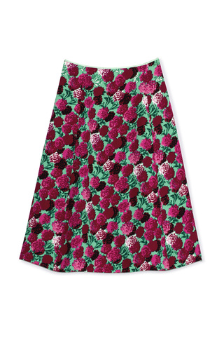 Medium marc jacobs multi degrade floral satin back crepe skirt