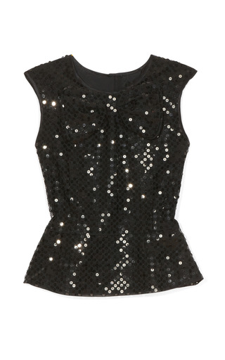 Sequin Broderie Anglaise Peplum Top by MARC JACOBS Now Available on Moda Operandi